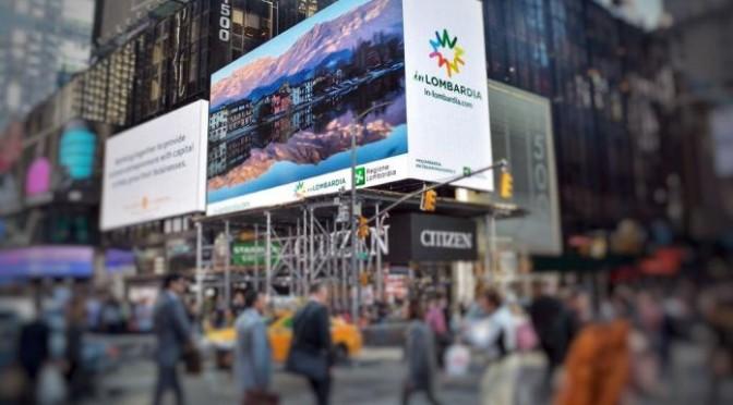 TURISMO: LOMBARDIA SUGLI SCHERMI DI TIMES SQUARE A NEW YORK
