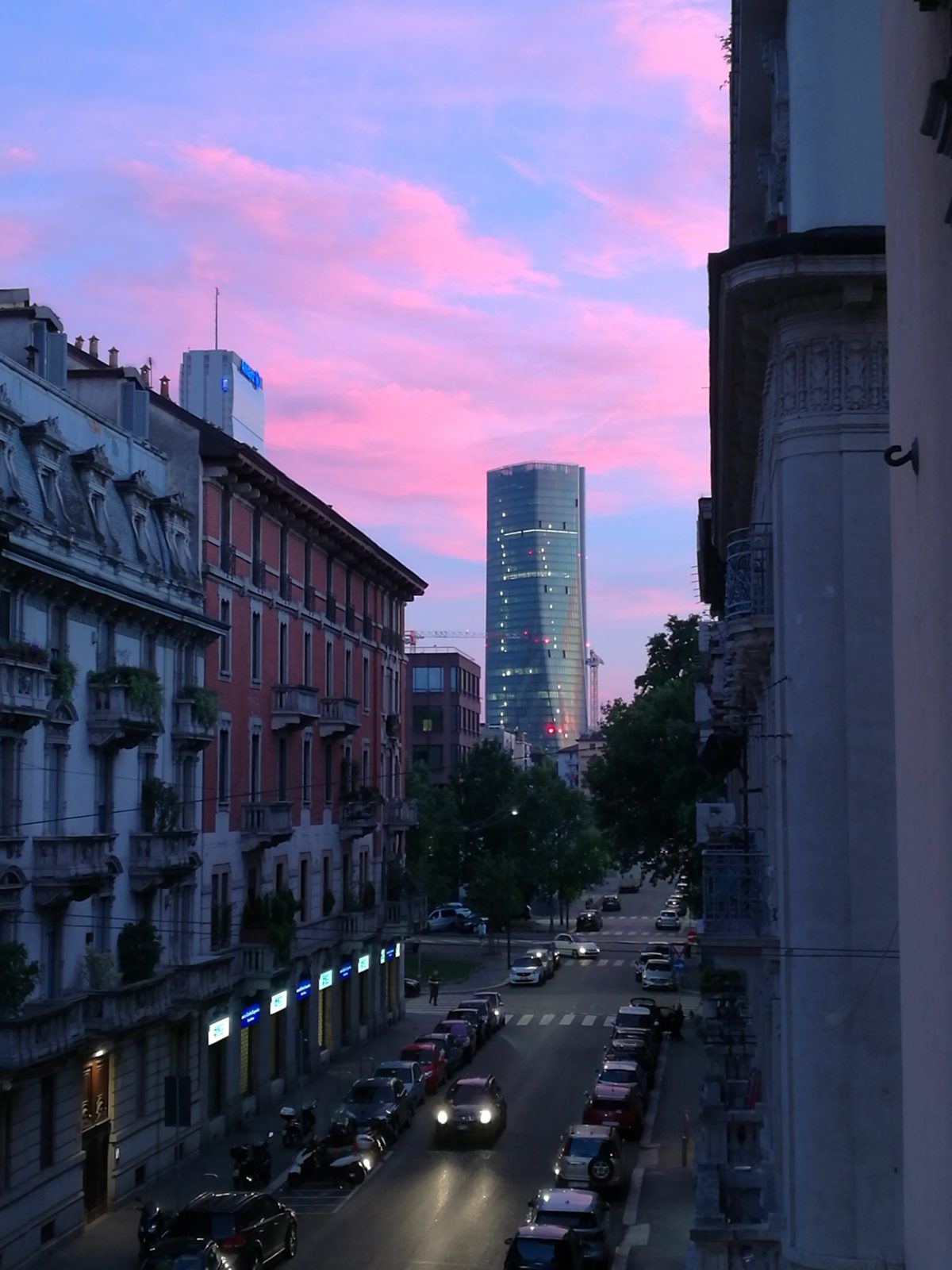 SUNSET IN MILAN